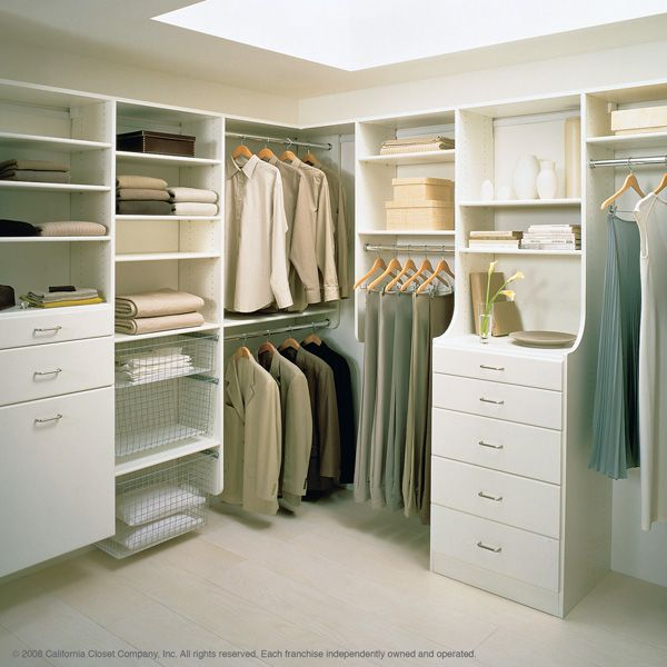 Master closets pictures california closets master bedroom home pinterest for Bedroom walk in closet designs