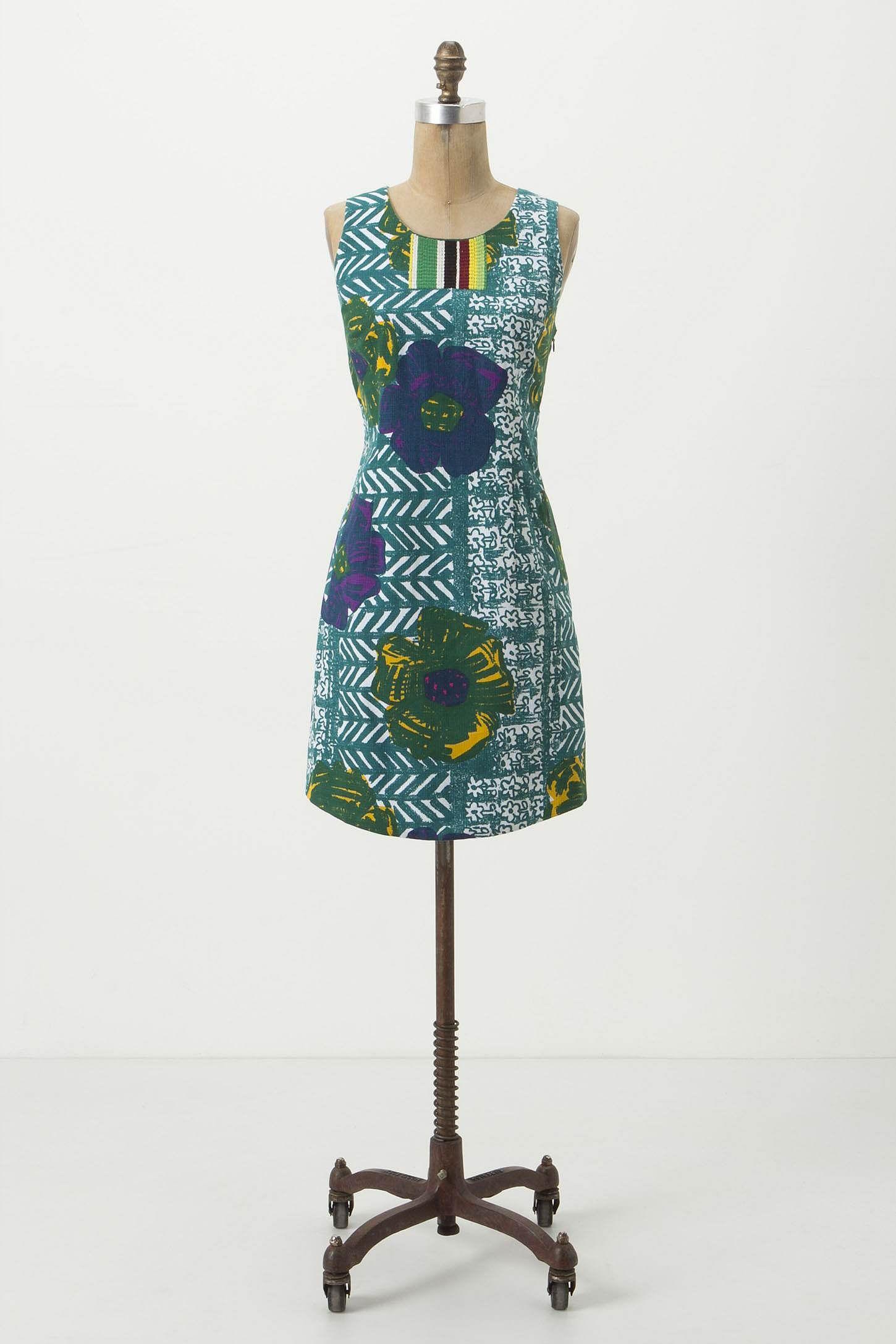 hibiscus shift dress - anthropologie