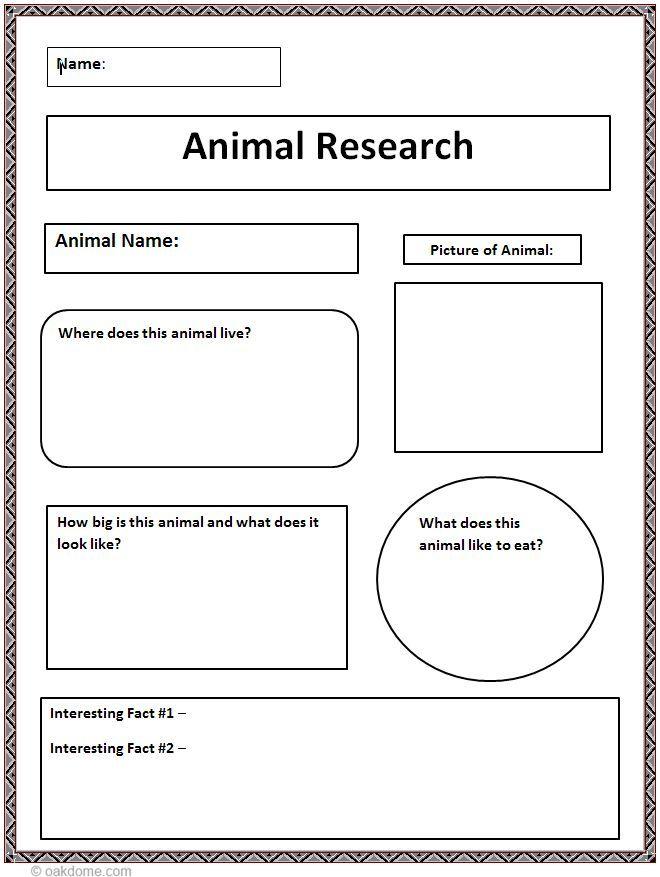 Common Core Animal Research Graphic Organizer Graphic Organizers