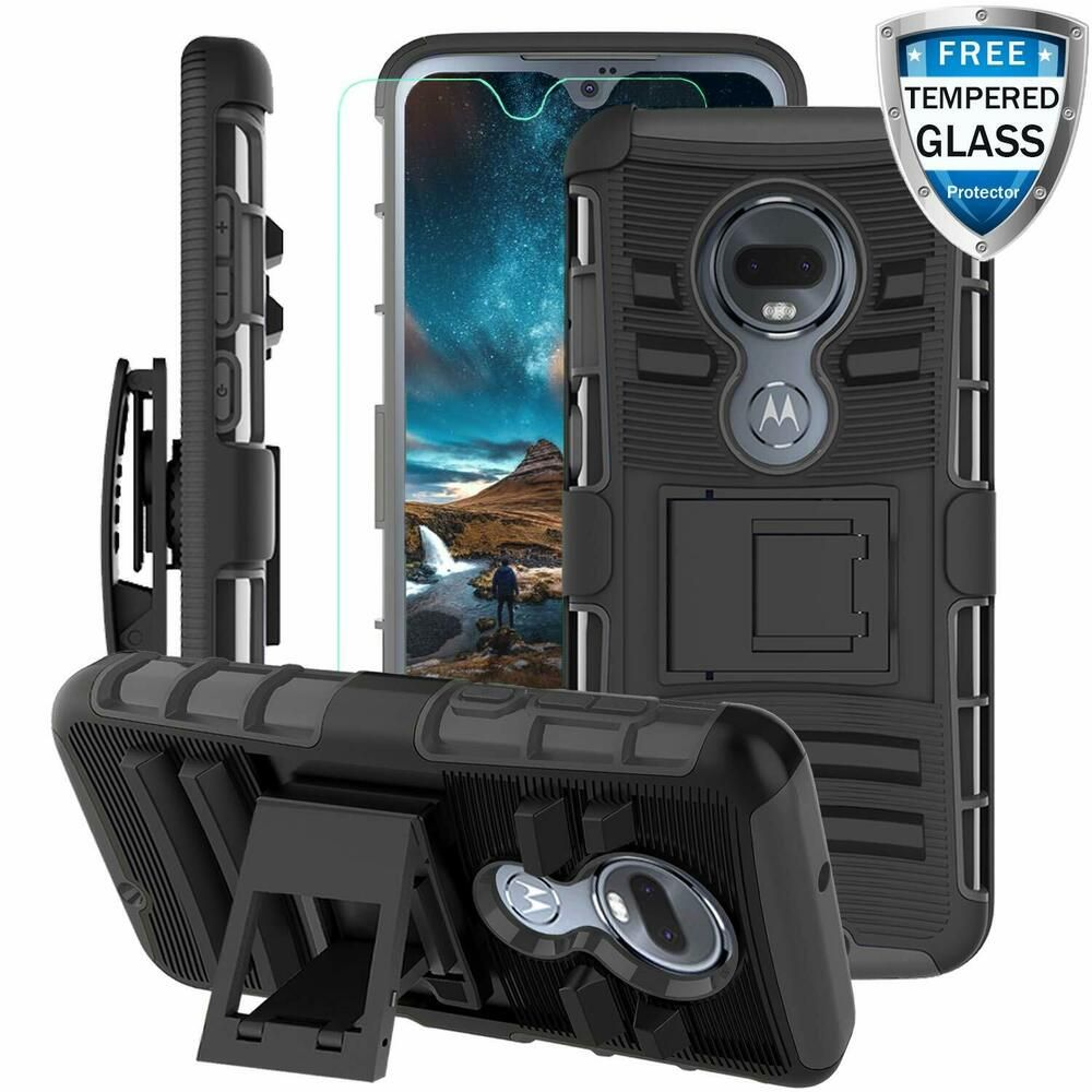 For Motorola Moto G7 G7 Plus Shockproof Armor Stand Rugged Case Tempered Glass Unbranded Ebay Case Moto Phone Cases Protective Motorola Screen Protector