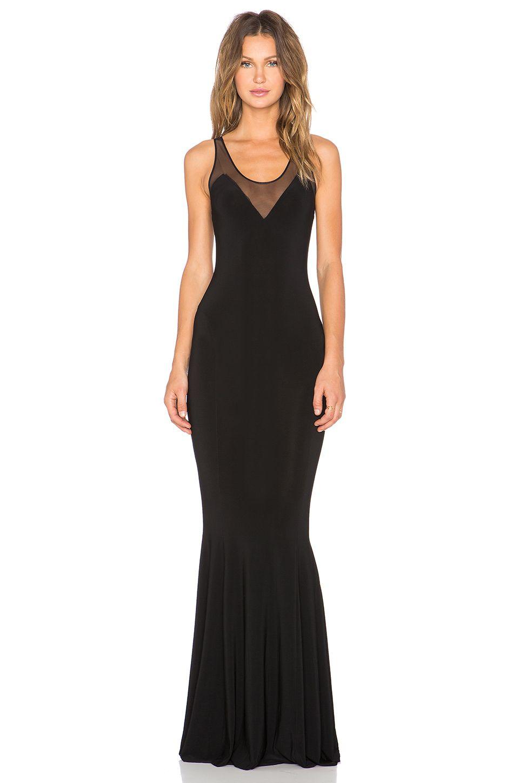 Norma kamali kamali kulture racerback fishtail maxi dress in black