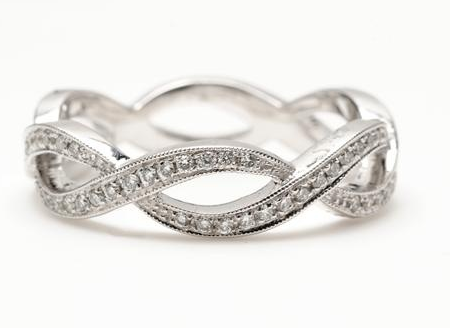 Solitaire Engagement Ring With Infinity Wedding Band   Google Search
