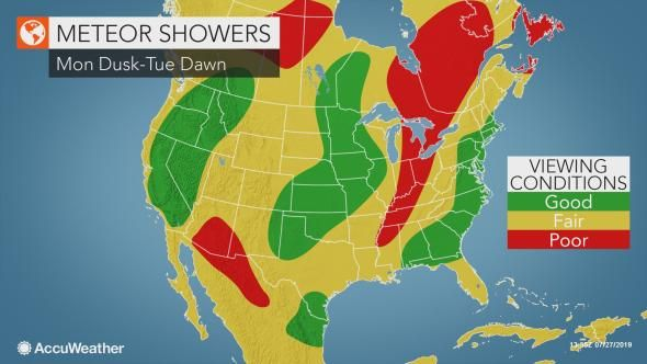 Dueling meteor showers to peak Monday night, up to 25