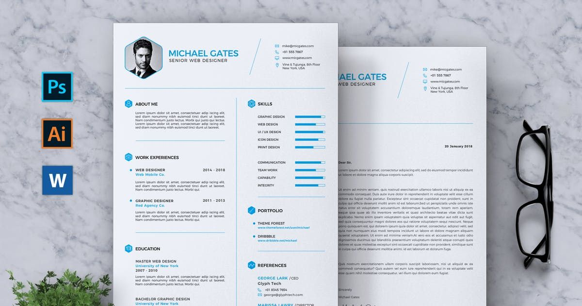 Cv Resume By Rahardicreative On Envato Elements