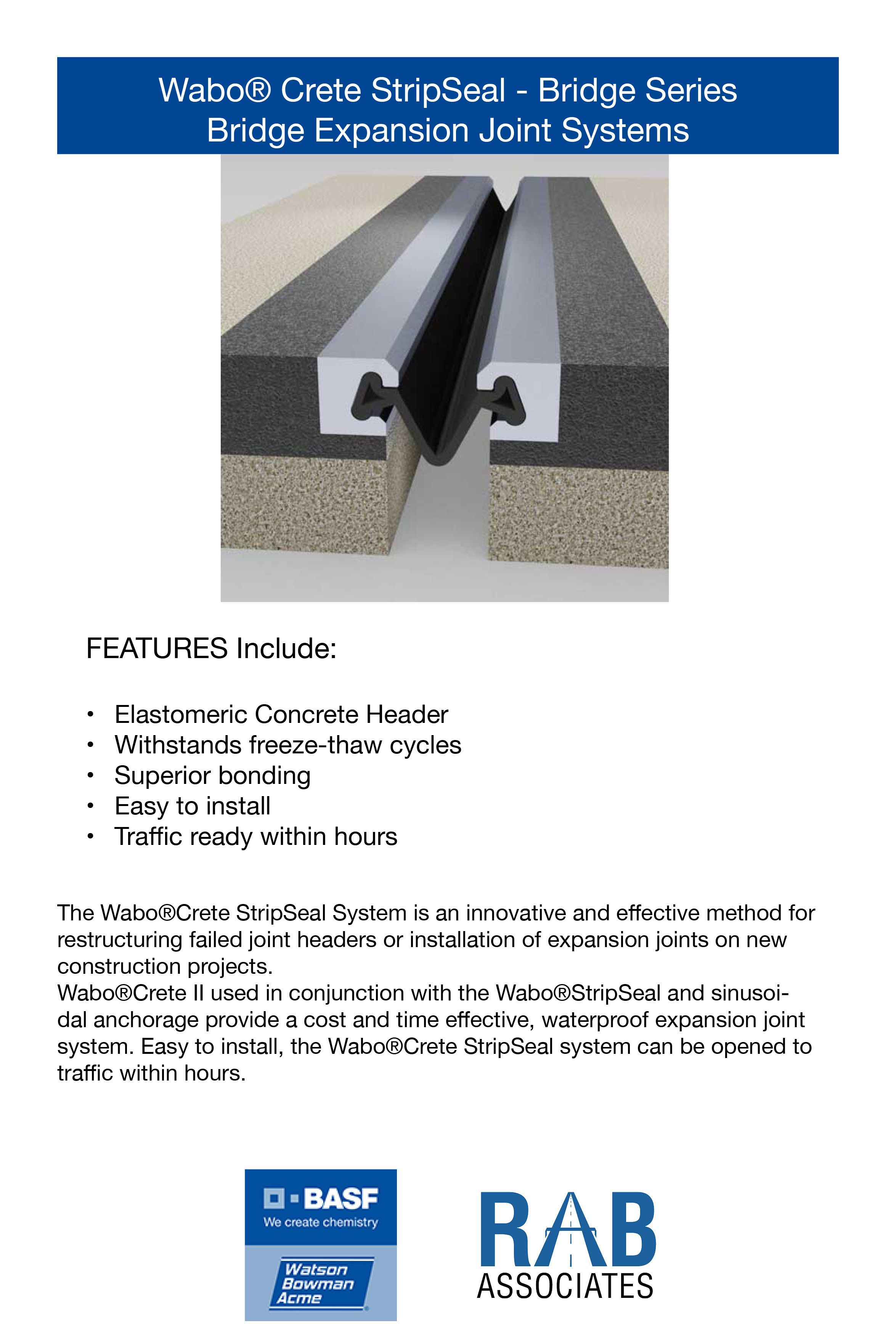 Cost Effective Waterproof Expansion Joint System With Sinusoidal Anchorage Expansion Joint The Expanse Repair