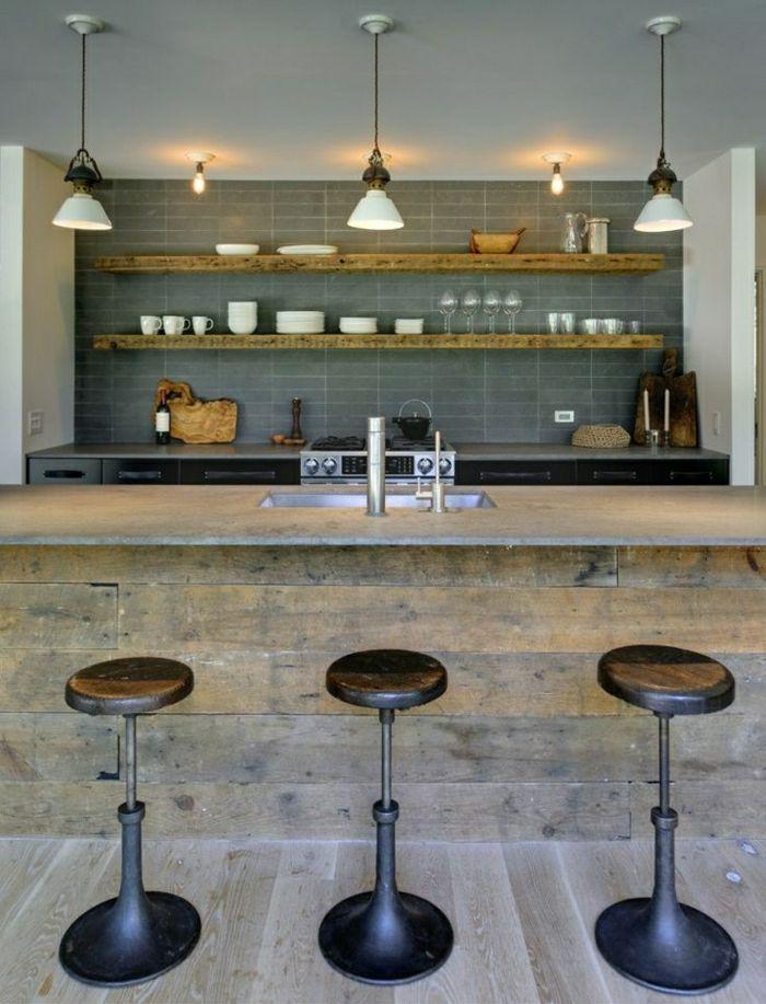 Comment Adopter Le Tabouret De Bar Dans Lintérieur Moderne - Bar maison design pour idees de deco de cuisine