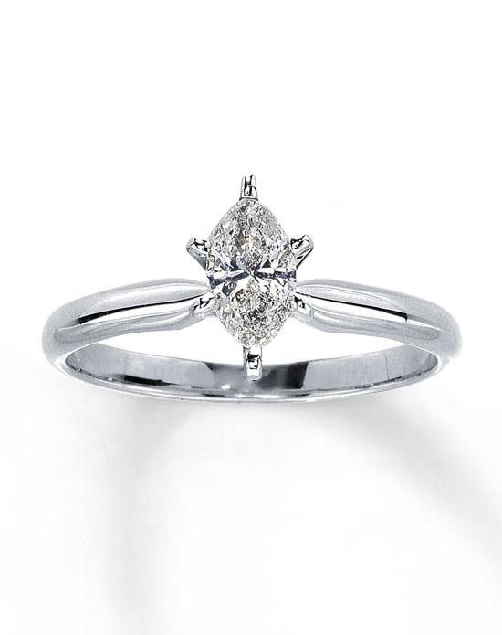 06b3265b171b6 This stunning marquise diamond solitaire is secured by six prongs in a 14K  white gold setting
