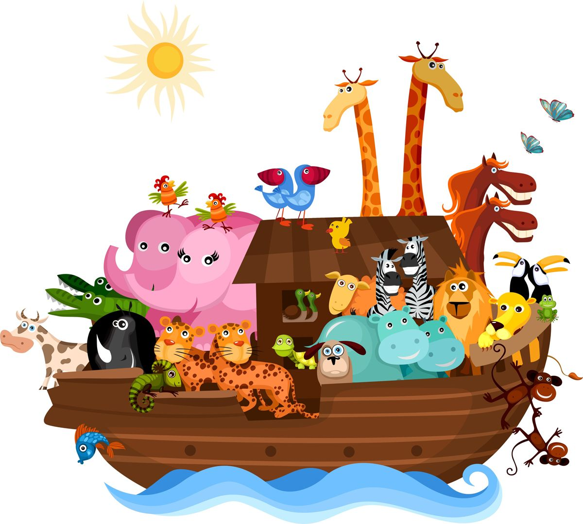 Arca Noe Animales 2 Jpg 1200 1079 Noahs Ark Removable Wall Stickers Wall Stickers Home Decor