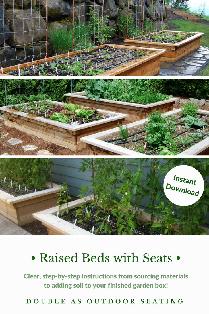 I Love That They Make Building These Raised Beds With Seats Super