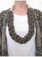 • wool braid necklace