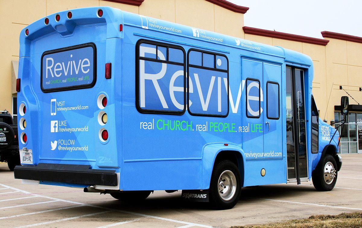 Revive Church Shuttle Bus Wraps Bus wrap, Bus, Van wrap