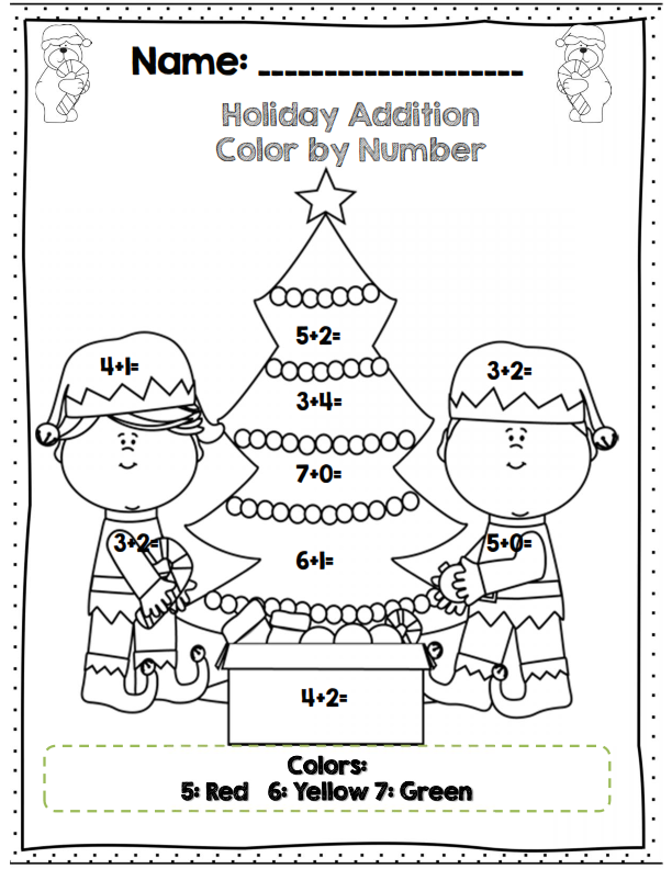 First Grade Holiday Math Packet Common Core Aligned Holiday Math Worksheets Christmas Math Worksheets Holiday Math