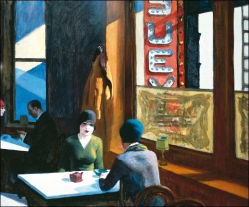 Edward Hopper, Chop Suey, 1929.