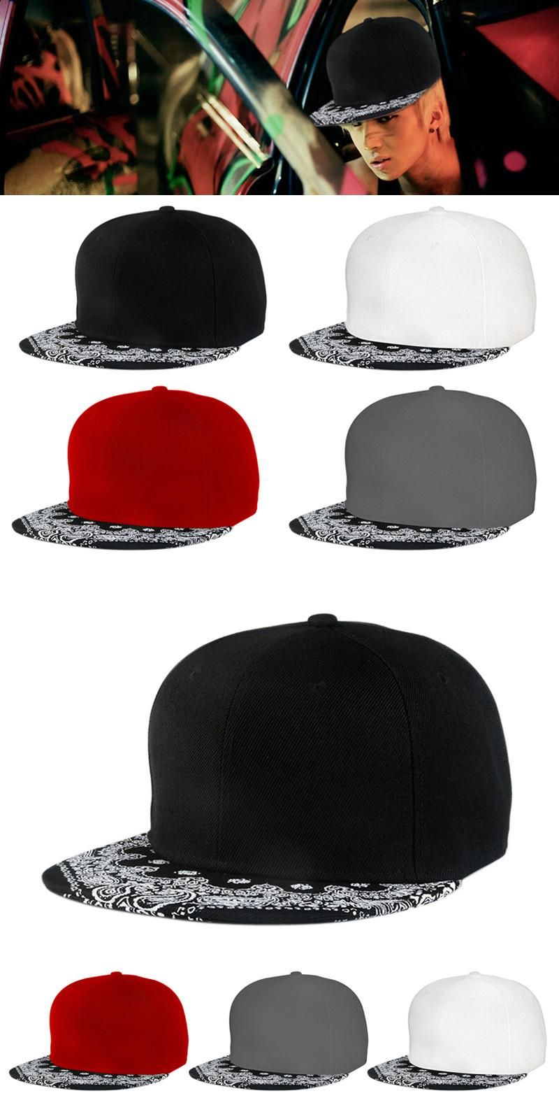 08aeee549 [Visit to Buy] Hot New Paisley Black Unisex Snapback Hats Men Women Hip-Hop  Dance Adjustable Bboy Baseball Cap gorras Cheap Z1 #Advertisement