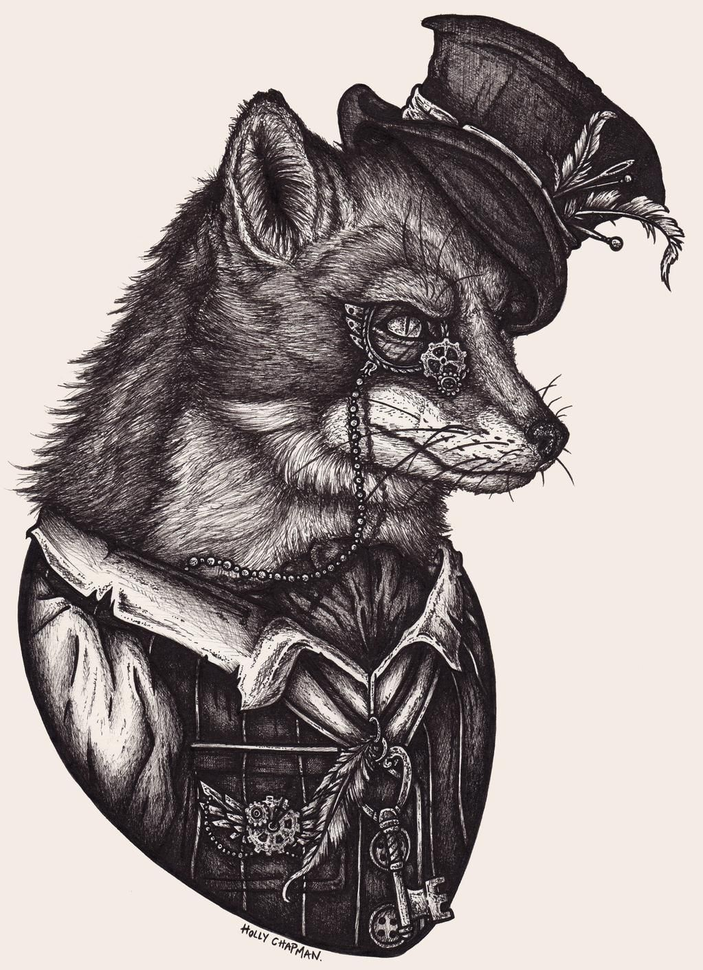 Holly Foxes Steampunk Animals And Drawings