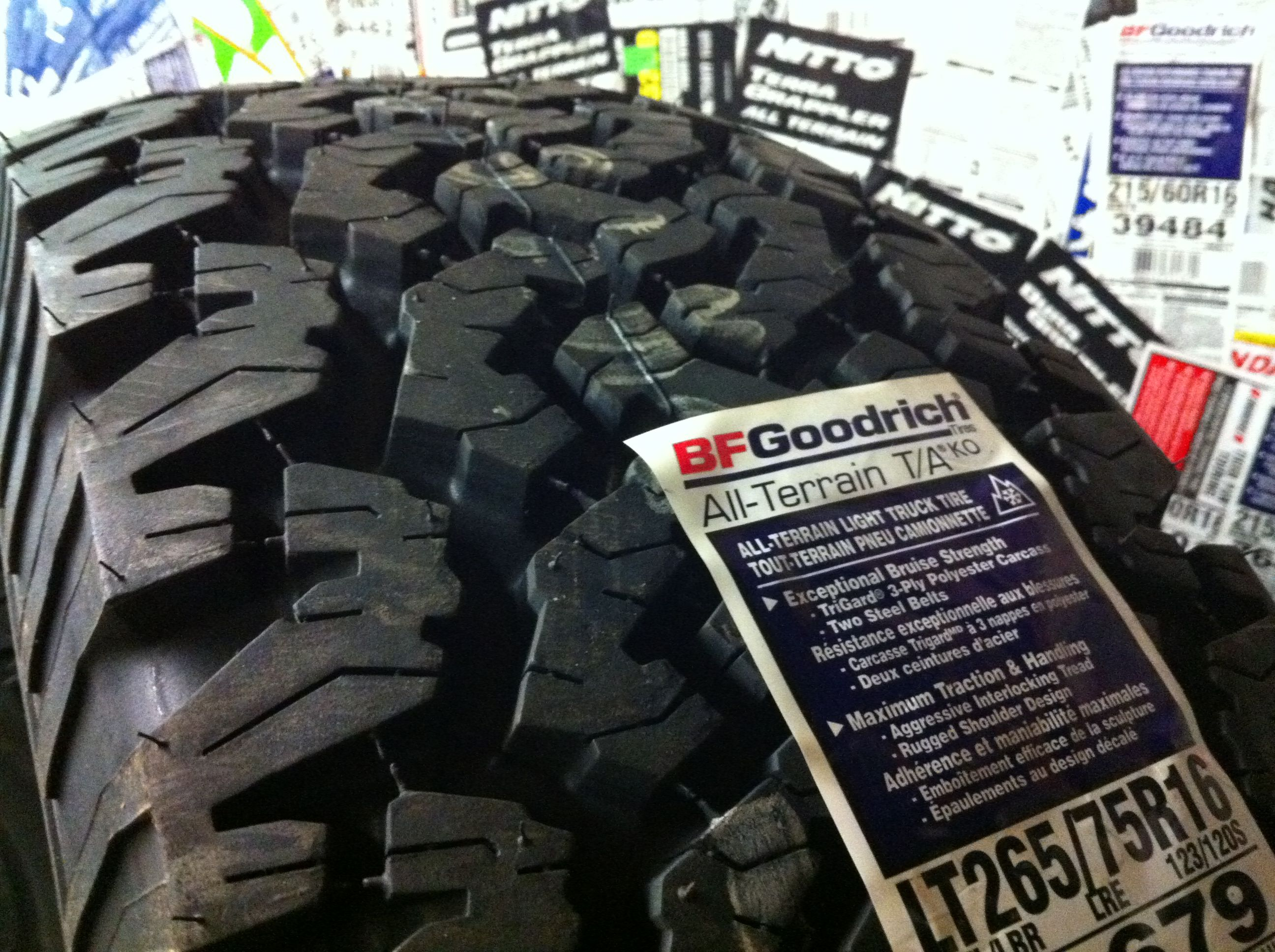 The Boss The Bfgoodrich All Terrain T A Ko For Something A Little More Serious Goodrich Truck Lights Truck Tyres