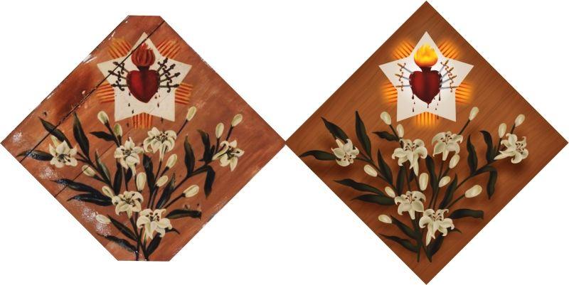 Quadro 2 - Quadros originais da Matriz de São Sebastião de Florânia-RN, reproduzidos em vetor, para impressão em qualquer tamanho. - 2014