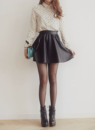 Leather skirt- THE hot fall trend