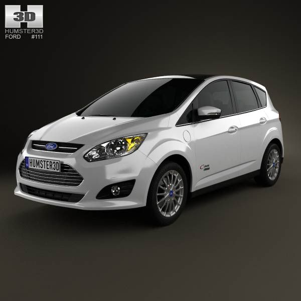 3d Model Of Ford C Max Energi 2012 With Images Land Rover