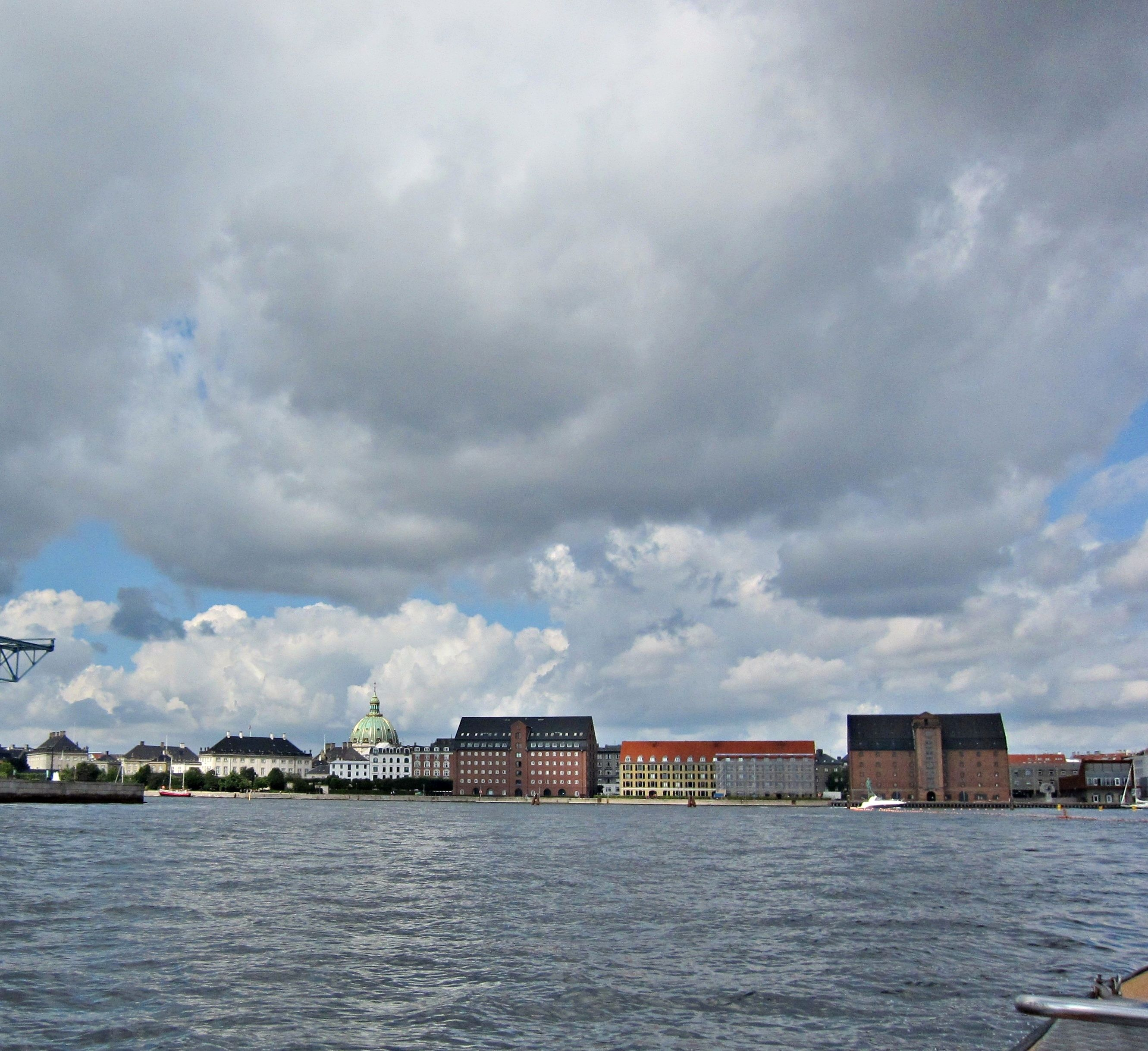 August sky over Copenhagen, Denmark; by InaT