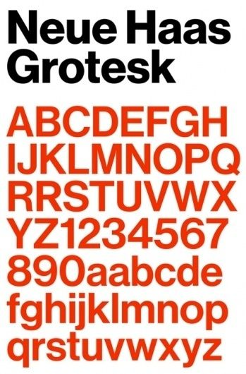 Neue Haas Grotesk | AisleOne | typography | Typography, Max