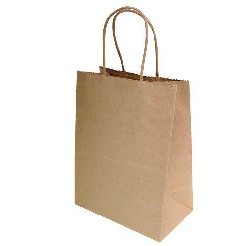 "8/""x4.75/""x10/"" 50 pcs Brown Kraft Paper Bags Shopping Party Retail Craft Bag N..."