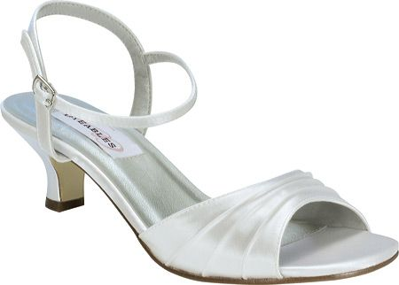 Women's Dyeables Brielle - White Satin with FREE Shipping & Exchanges. A classic adjustable strap shoe with gathering detail in satin or metallic. Please note that only