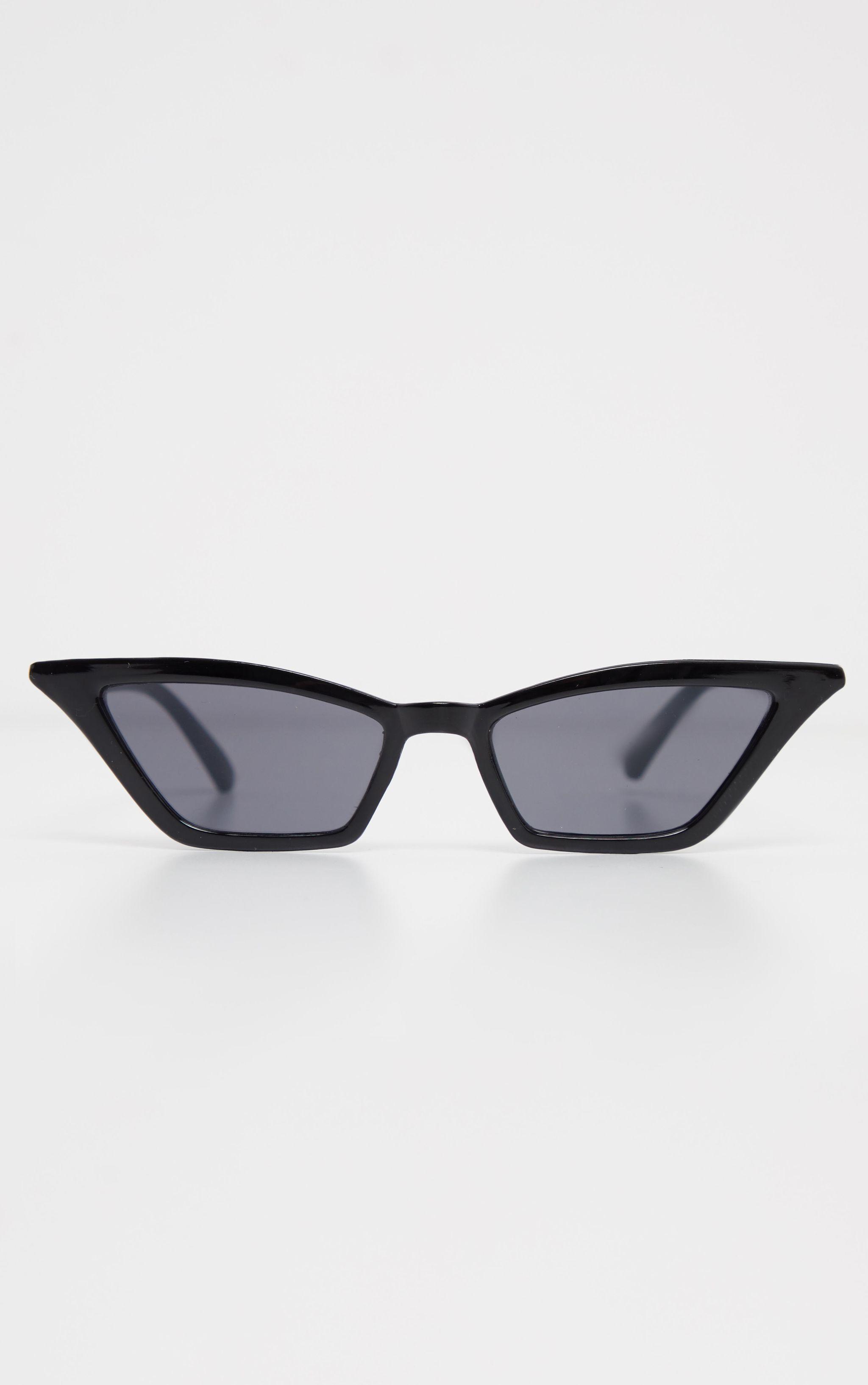 b64d4762e2 Black Narrow Slim Angular Cat Eye Sunglasses in 2019 | guardado ...