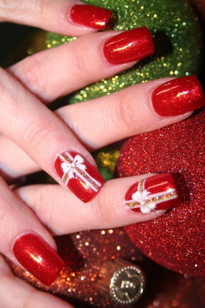 24 Gelnägel Muster - Weihnachten auf den Nägeln - Nageldesign