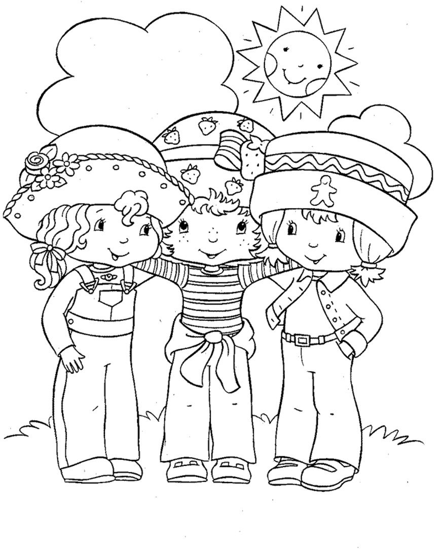 Strawberry Shortcake Orange Blossom And Ginger Snap Coloring Page