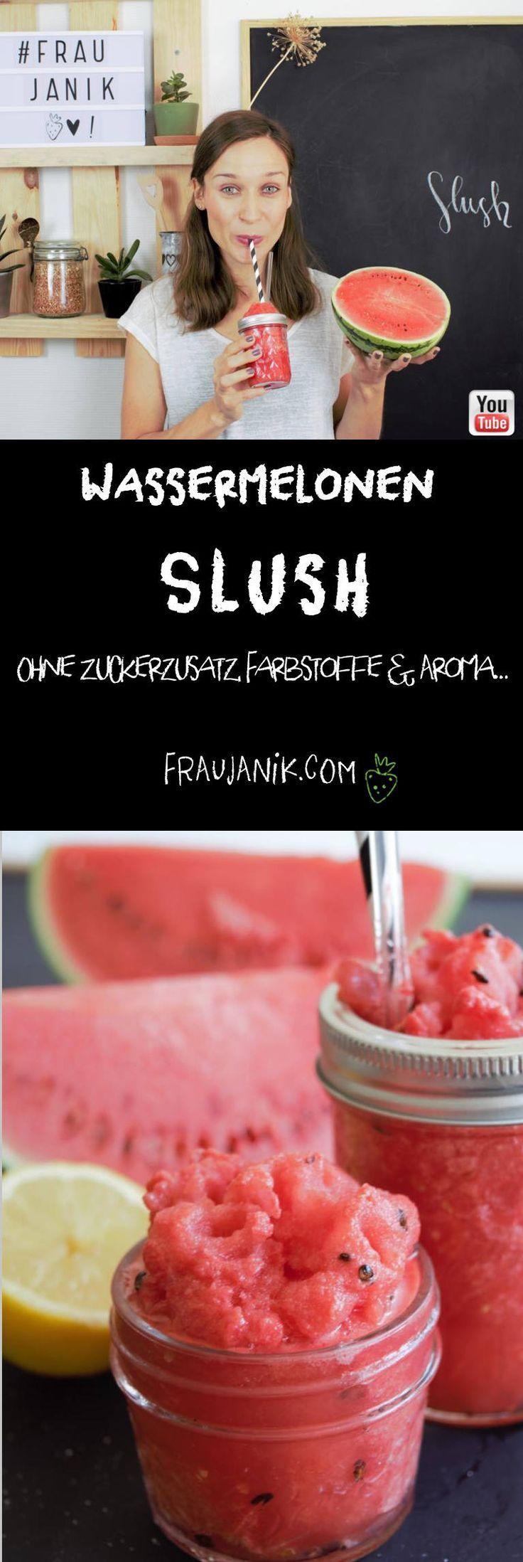 Wassermelonen Slush | gesund - Frau Janik #melonrecipes