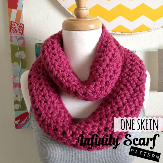 Sew Chatty: {One Skein Infinity Scarf Pattern}   Crafts   Pinterest ...