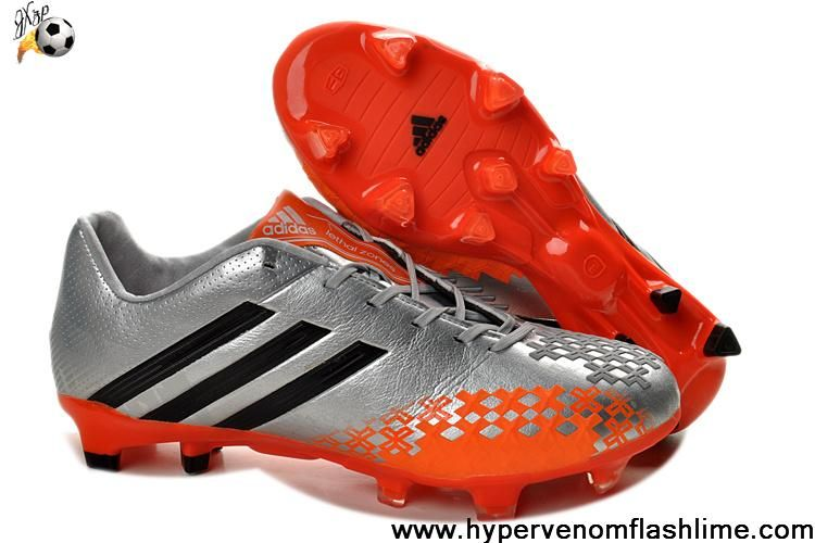 wholesale dealer c30c9 0d4da Cheap Adidas Predator LZ TRX FG Silver Orange Football Boots Store