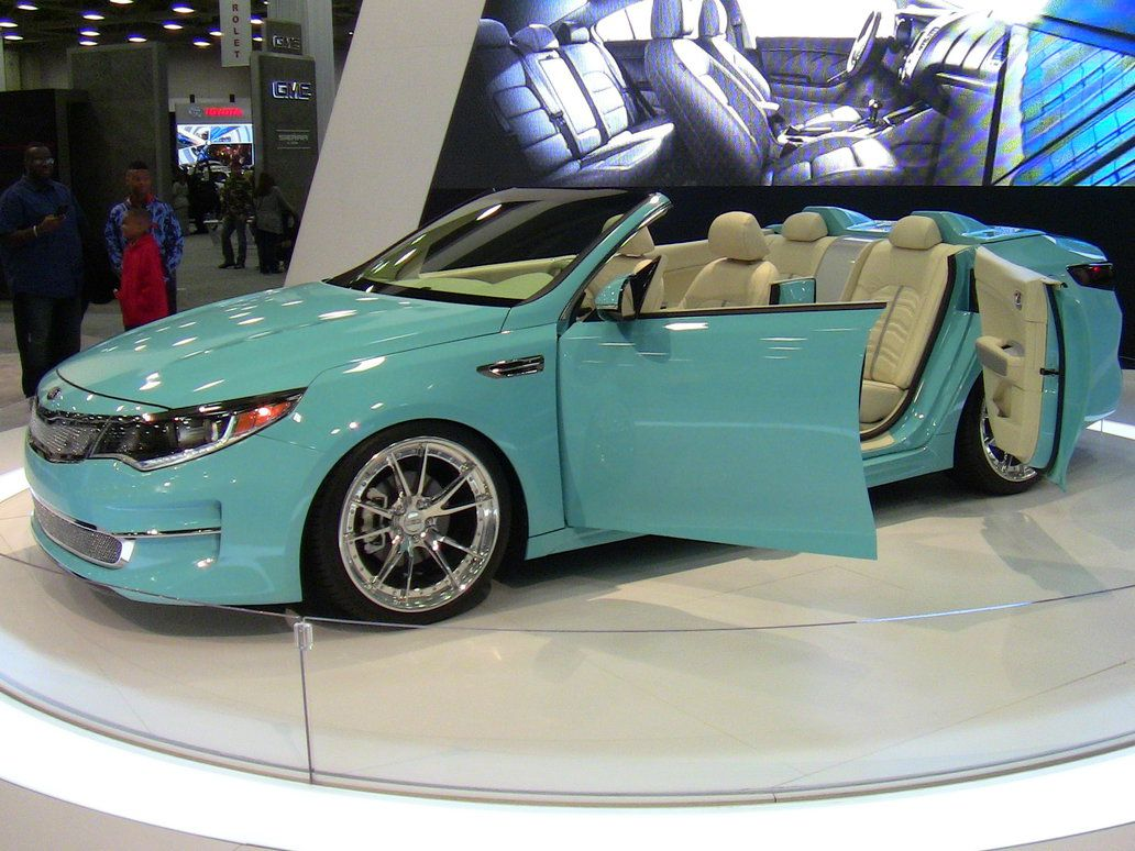 The Kia Optima A1A Concept Convertible at the DFW Auto Show