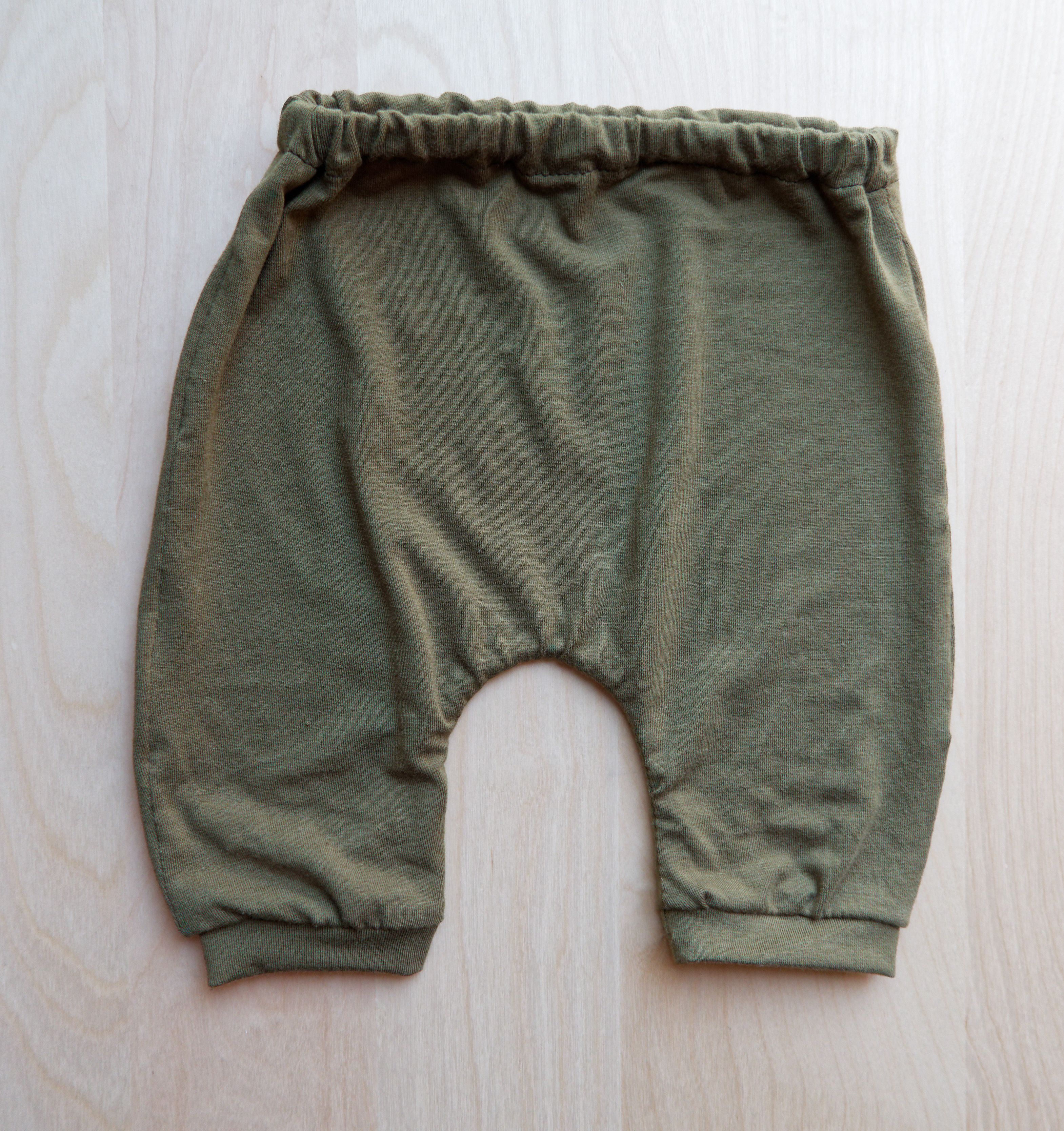 52bceb901170 Olive Green Harem Baby Pants (Organic). Perfect for fall weather ...