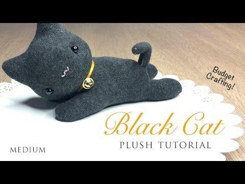 Idee Creative Cucito : Tutorial gattino da riciclo calzini cucito creativo tutorial