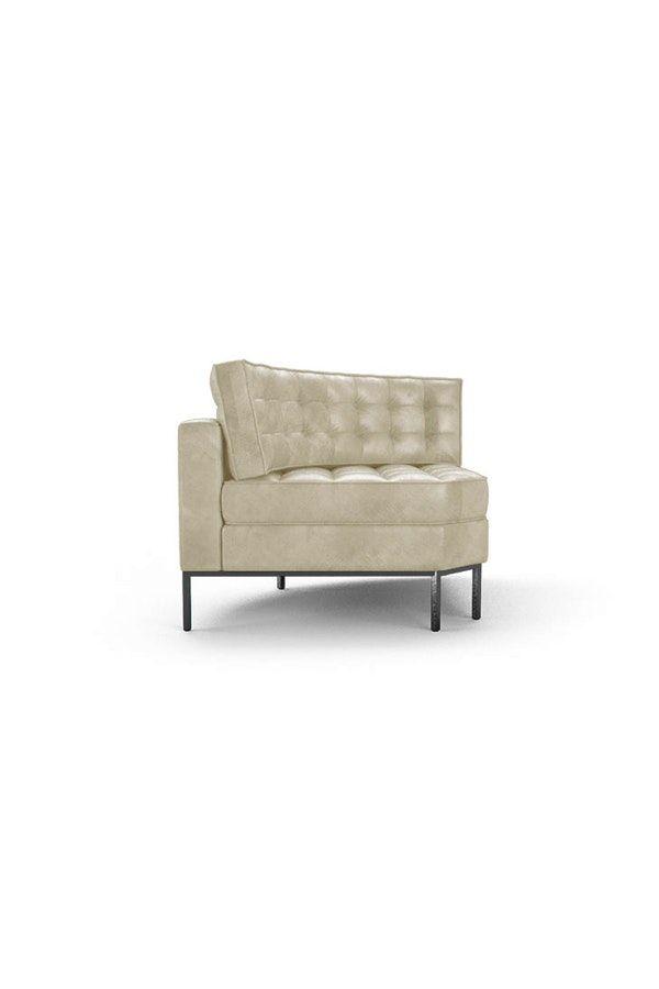 Franklin Leather Round Corner Chair