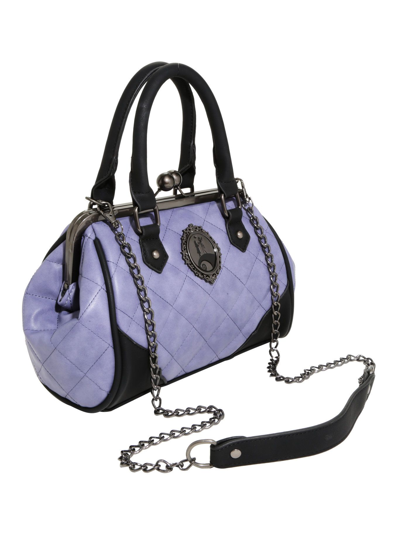 The Nightmare Before Christmas Quilted Kisslock Satchel Bag ...