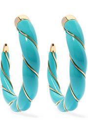 Aurélie BidermannDiana gold-plated resin hoop earrings