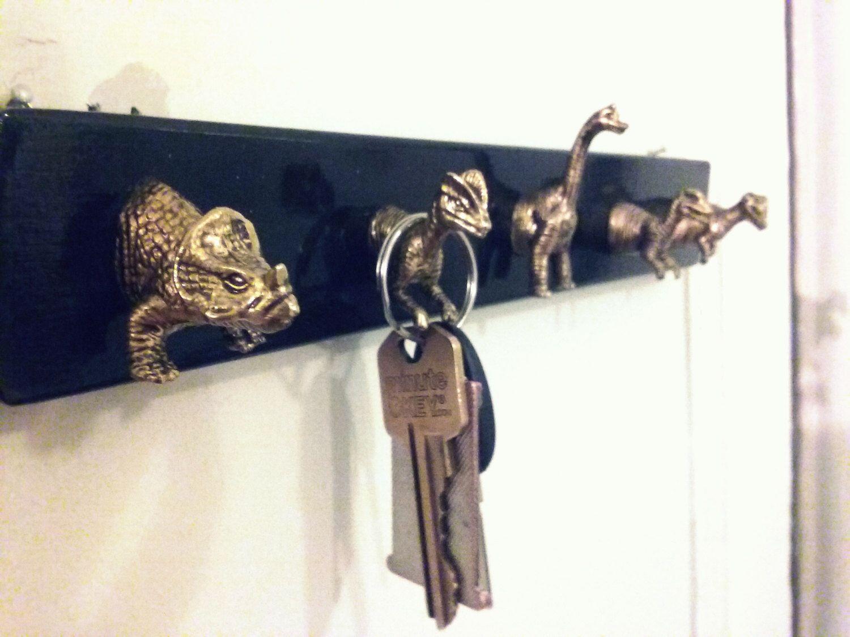 Dinosaur Key Holder Key Rack Wall Hanging Key And Necklace Holder Jewelry And Key Hooks Jewelry Hanger Jewelry Storage Solutions Key Holder