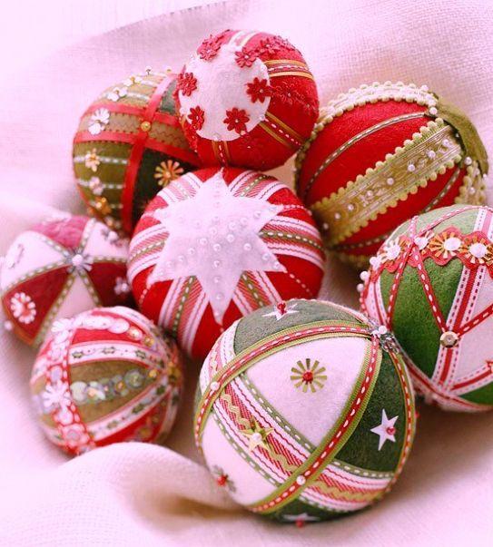 Palline natalizie patchwork fotogallery donnaclick for Ornamenti casa