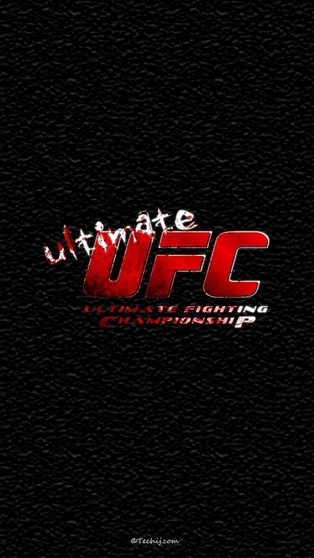 Ultimate Ufc Logo Ufc Black Phone Wallpaper Mma