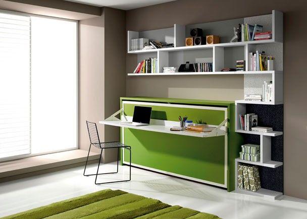 Dormitorio juvenil 528 942012 camas abatibles for Cama escritorio juvenil