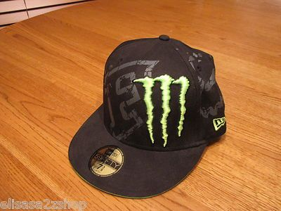 Men s Fox Racing Randy Carmichael  4 Monster Energy Drink hat cap 7 3 8 new  era 1e6e36ca5a51