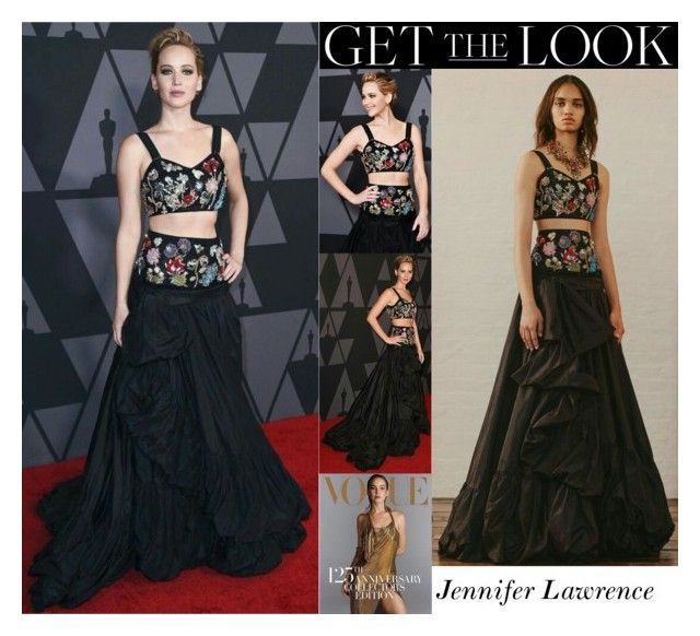 """Jennifer Lawrence 9th Annual Governors Awards 2017"" by valenlss ❤ liked on Polyvore"