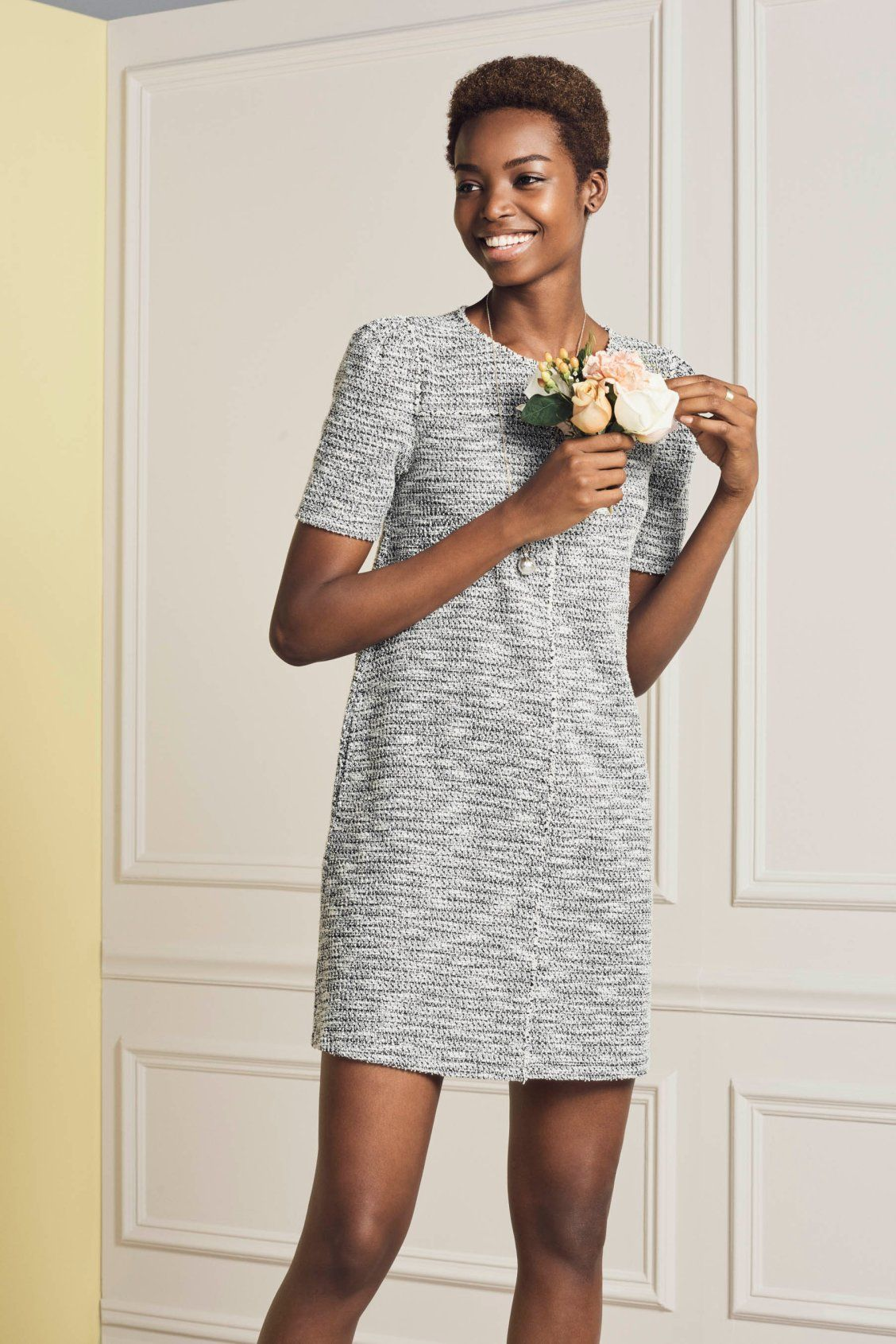 This easy shift dress is where uptown chic meets downtown cool