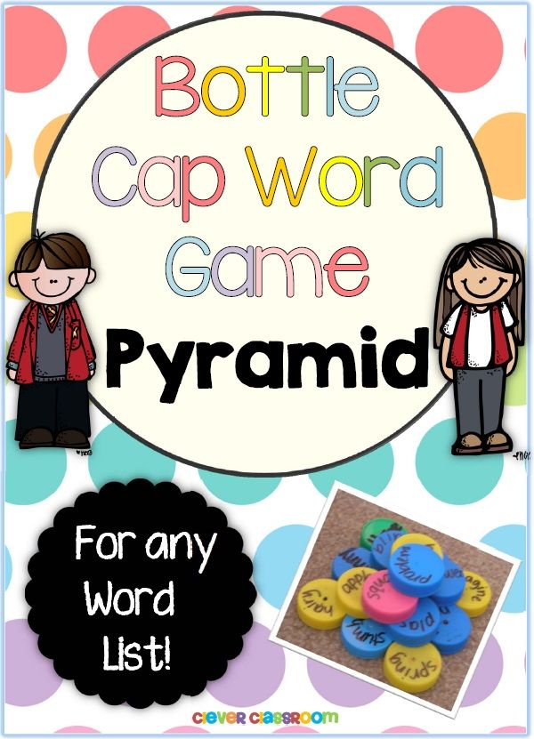 Pyramid Bottle Cap Center Game for any List | Education