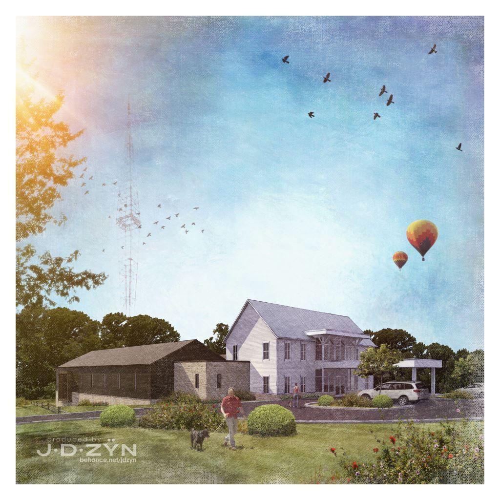 Render: JDZYN Design: McKelvey Architecture Kennel SKP 2015 | Twilight Render2 | PS CS6