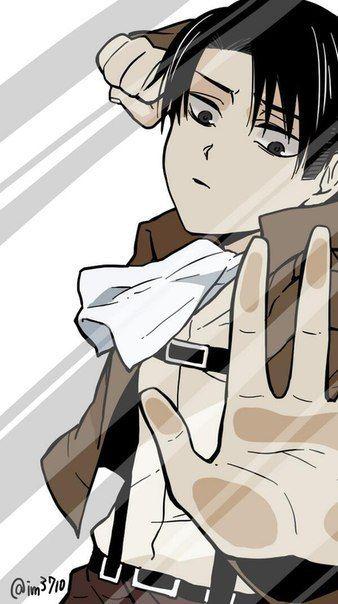 Za Steklom Anime Lock Screen Attack On Titan Levi Attack On Titan Anime