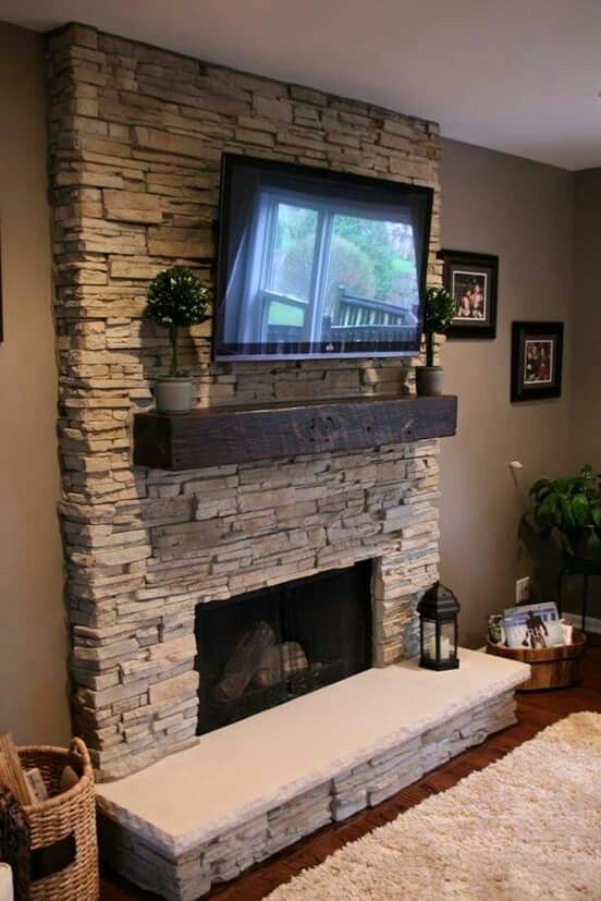 Pin By Claudia Arenas On Every Day Mantel Decor Ideas Stone